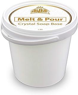 Base de Jabón 1000g - 1kg - Derretir & Verter Crystal ST - Jabón de Glicerina - Transparente - Jabón Hecho a Mano - Bonito regalo