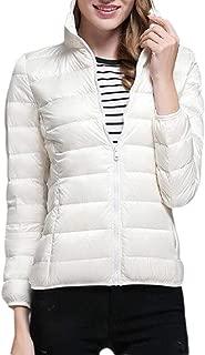 Macondoo Womens Slim Puffer Quilted Hoodie Packable Overcoat Down Coat