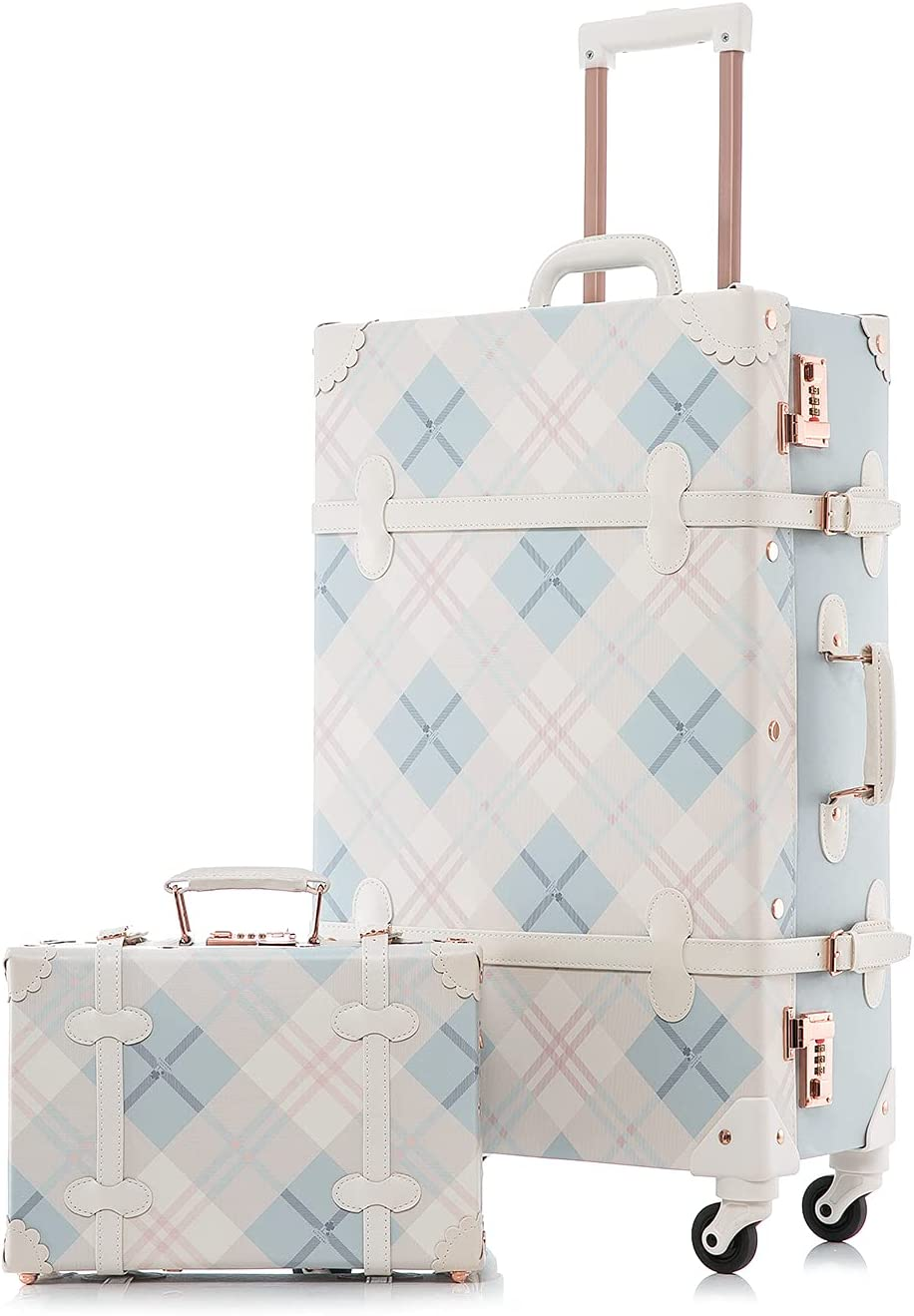 Unitravel Retro Luggage Sets 26 inch Suitcase Vintage Cute Women Max 56% OFF Max 81% OFF