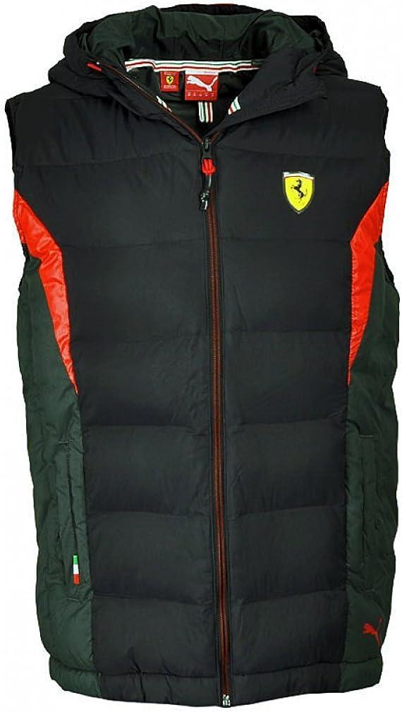 Puma Sf Men S Jacke Gepolstert Mit Ferrari Motiv Small Schwarz Schwarz Schwarz Bekleidung