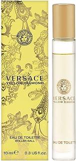 Versace Yellow Diamond Eau de Toilette Roll-On for Women, 0.3 Fl Oz