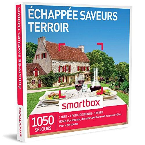 SMARTBOX - Coffret Cadeau - ÉCHAPPÉE SAVEURS TERROIR - 265 SÉJOURS : jolie maison d'hôtes, un hôtel 3*, un château ou une auberge