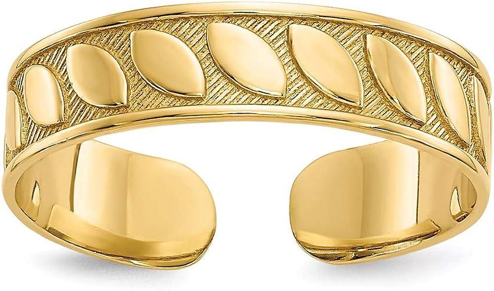 14K Yellow Gold Toe Ring