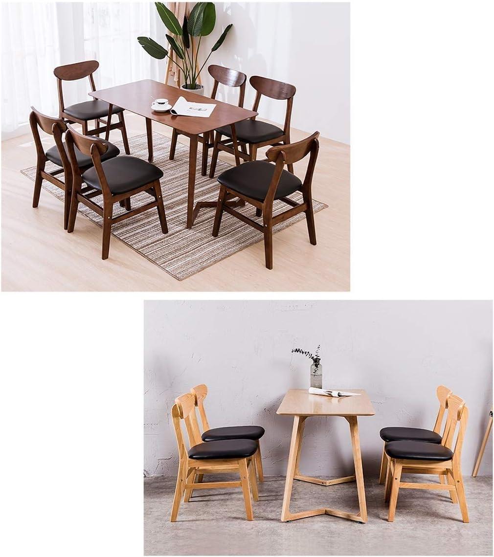 Casual dinant la chaise chaise de bar, coussin en tissu de jambe en bois avec dossier, restaurant maison salon café chaise de thé chaise bureau tissu chaise longue (Color : #1) #5