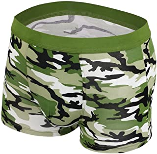 MIOIM Mens Breathable Modal Sport Soldier Camouflage Underwear Boxer Shorts