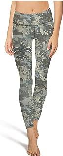 Womens Football Fans Camouflage Camo Printed Elastic Hot Yoga Leggings Pants