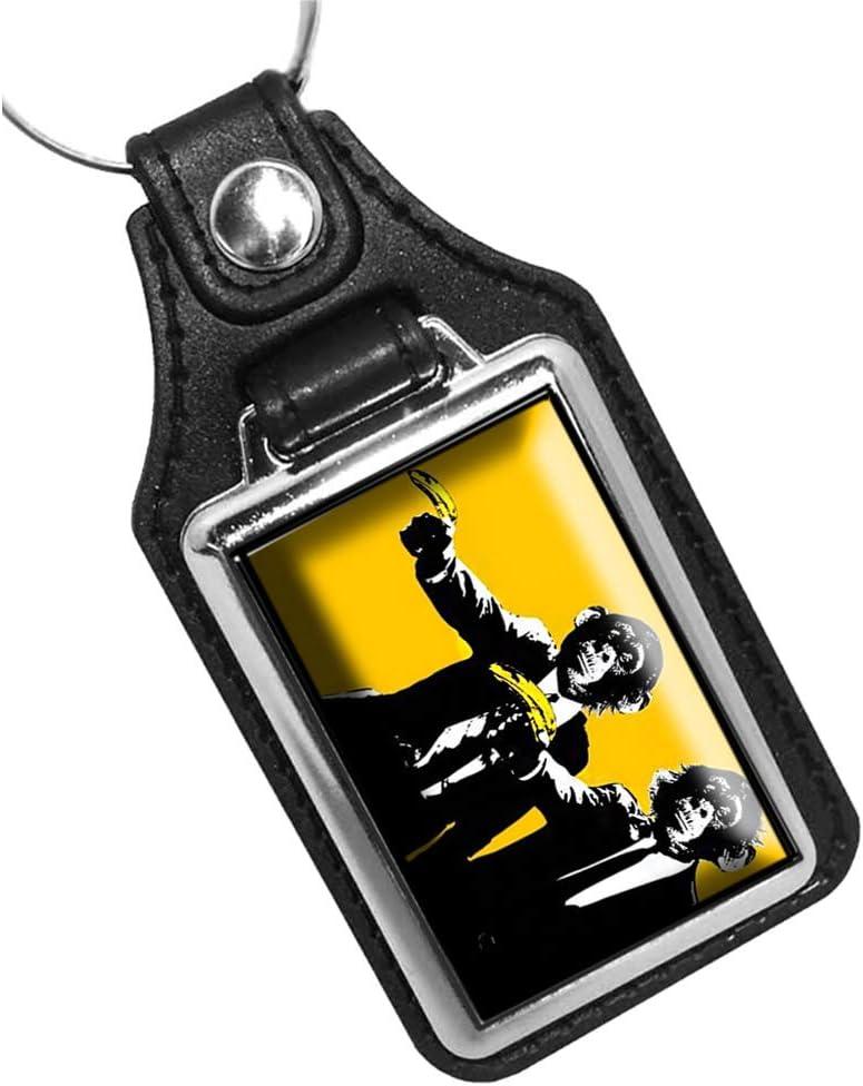 Brotherhood Monkees Holding Bananas Pulp Fiction Keychain Key Holder Key Ring for Men Heavy Duty Car Keyring for Men and Women