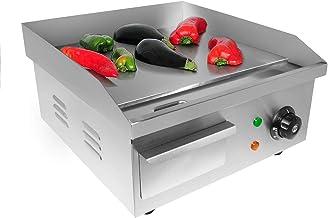 GorillaRock Plaque chauffante à dessus plat | Grill Teppanyaki avec thermostat unique | Antiadhésif | 220 V