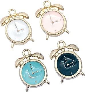 M295-E 8pcs New Cute Assorted Little Alarm Clock Bracelet Charms Pendants Wholesale