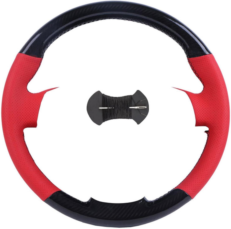 Pangtyus Inventory cleanup selling sale Custom Mesa Mall DIY Black Leather Steering Car Hand-Sewn C Wheel