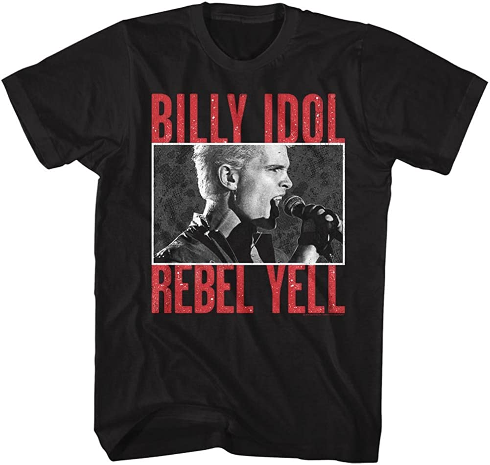American Classics Billy Idol Rebelyell Tee Cheap mail order specialty Safety and trust store Black Adult T-Shirt