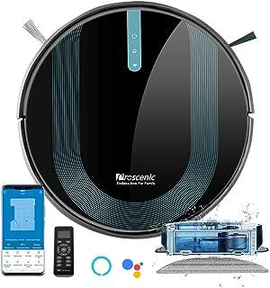 Proscenic 850T Robot Aspirapolvere Lavapavimenti, Aspirazione Potenza 3000Pa Controllo APP & Alexa, Serbatoio Acqua Elettr...