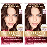 L'Oreal Paris Excellence Creme Permanent Hair Color, 4AR Dark Chocolate Brown, Pack of 2