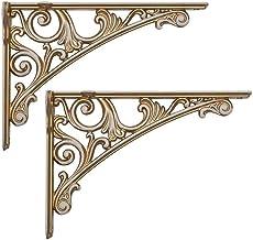Plankbeugels Vintage, metalen driehoekige rekkenbeugel, aan de muur gemonteerde rekkensteun, zinklegering, 20 cm, decorati...