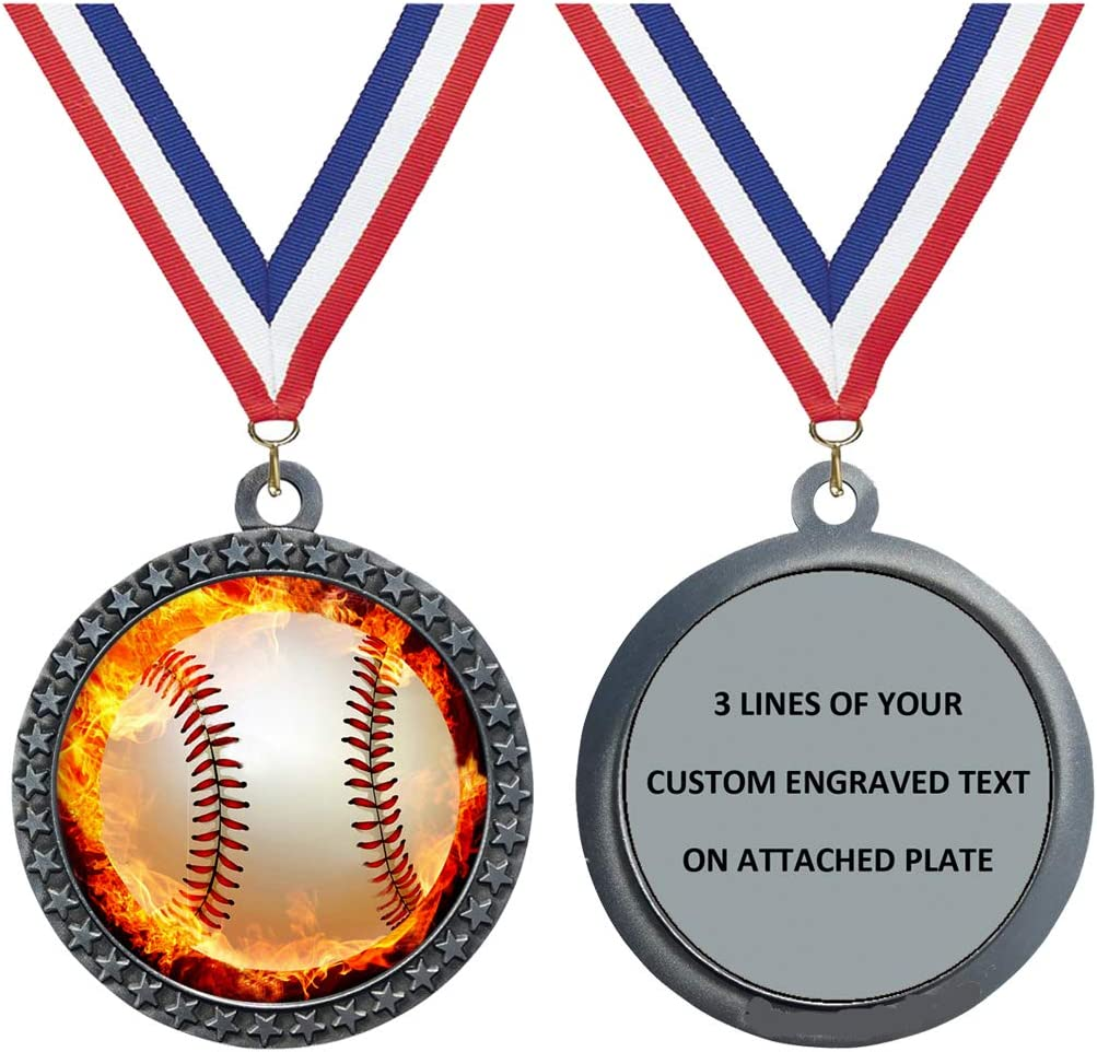 Express Medals Engraved 1 Discount mail order to Baseball Packs 50 Dealing full price reduction Si Flame