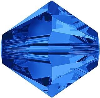 20pcs x Authentic 6mm Swarovski #5328 Xillion Bicone Crystal Beads (Sapphire) #SWA-b613
