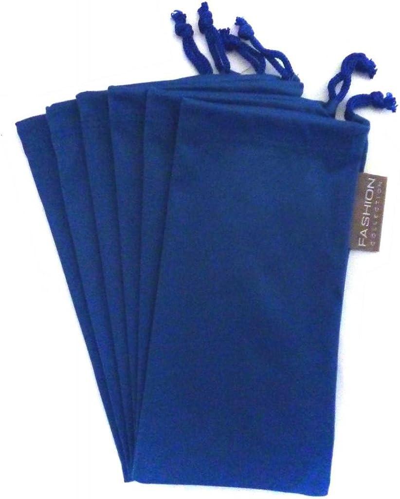 6 PC Sunglass Eyeglass Microfiber Soft Lens Cloth Carry Bag Pouch Case