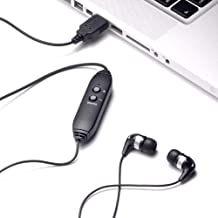 Spectra Ear Bud USB Transcription Headset with Volume Control