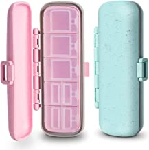 2 Pack Travel Pill Organizer Waterproof, 7 Compartment Pill Case for Pocket or Purse, Small Pill Box for Vitamins, Fish Oi...