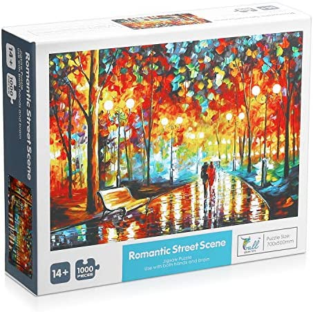 IEsafy Jigsaw Puzzles 1000 Pieces for Adults Kids – Walking in The Rain - Jigsaw Puzzle Artwork Game Toys Gift