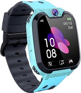 Barnspel smartklocka telefon, Smartwatch för barn flickor och pojkar med spel, HD-pekskärm, SOS-samtal, samtal, väckarkloc...