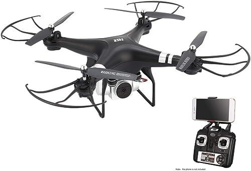 WOSOSYEYO SH5HD FPV Drone RC Quadcopter con 1080P Ajustable de Gran Angular WiFi Cámara HD Video en Vivo Altitud Mantenga 3 baterías (negro)