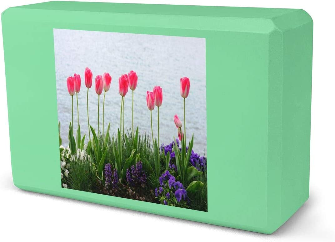 IPOXK Our shop most popular Inventory cleanup selling sale Yoga Block,Beautiful Flowers Foam Block,EVA