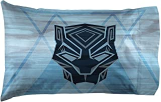 Jay Franco Marvel Black Panther Blue Tribe1 Pack Pillowcase - Double-Sided Kids Super Soft Bedding (Official Marvel Product)