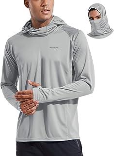 BALEAF Men's UPF 50+ Sun Protection Long Sleeve Shirts SPF Lightweight Fishing Running Thumbholes Hoodie Shirt