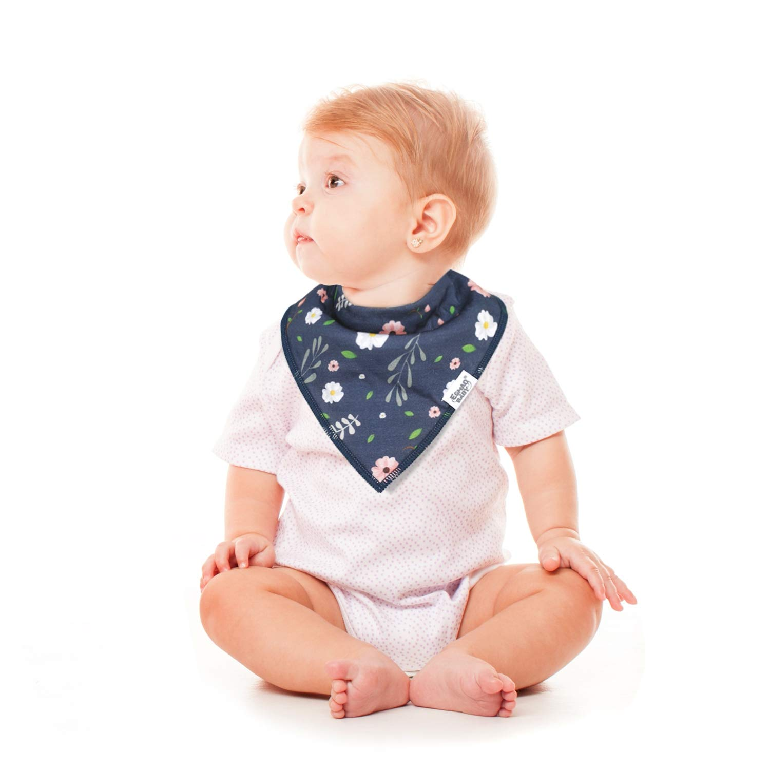 Baby Bandana Drool Bibs for Teething and Drooling,Baby Bibs Unisex for Boys and Girls 4 Pack Soft Cotton Organic Bib