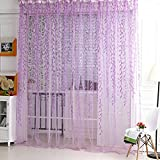 Norbi Willow Voile Tulle Room Window Curtain Sheer Voile Panel Drapes Curtain 39.4'' x 78.8