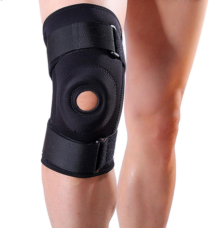 Knee Bracket Running Knee Sleeve Outdoor Motion Support Knee Black Knee Bracket 32 cm  17 cm
