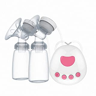 Smart Silicone Breast Pump Breastfeeding Pump Electric Breast Pump 2 Modes 9 Levels Adjustment USB Rechargeable for Automa...