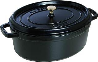 STAUB Cocotte en Fonte, Ovale, Ø 33 cm, 6,7 L, Noir Mat