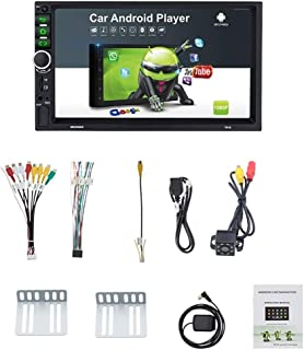 TOOGOO 2 Din Android 8.1 Auto Radio 7 Zoll GPS Navi MP5 Spieler Doppel WiFi Quad Core BT mit Kamera, 7918