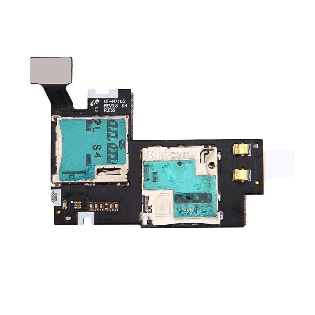 IPartserve Card Socket Parts HA SIM & SD Card Reader Contact Flex Cable for Galaxy Note II / N7105