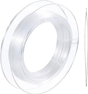 200 m Chaîne de Fil en Nylon Invisible Transparent pour Décoration de Noël, Fabrication de Bracelet, Coudre Passe-Temps, F...