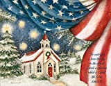 LANG - 'An American Christmas', Boxed Christmas Cards, Artwork by Susan Winget - 18 Cards with 19 Envelopes - 5.38 x 6.88 Inches