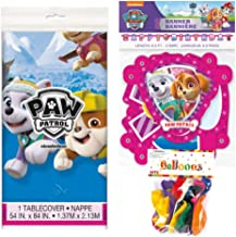 Paw Patrol Skye Themed Party Decorations – Includes Party Banner,Tablecloth and Ten 12