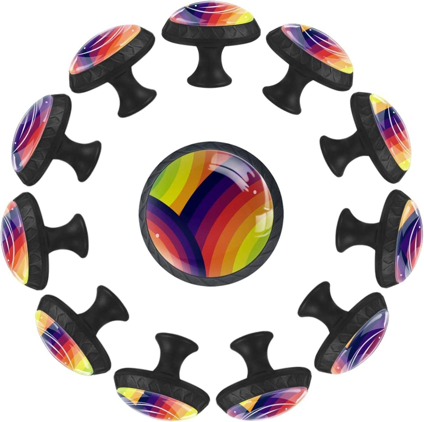 AISSO 12Pcs Color Background New Free Special price for a limited time Shipping Crystal Drawer Round Glass Erg Knob