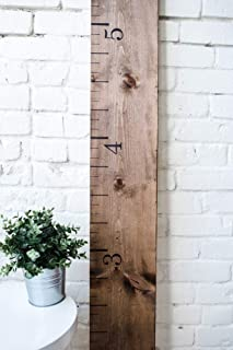 Rustic Walnut: Wooden Growth Chart for Kids Rooms & Nursery