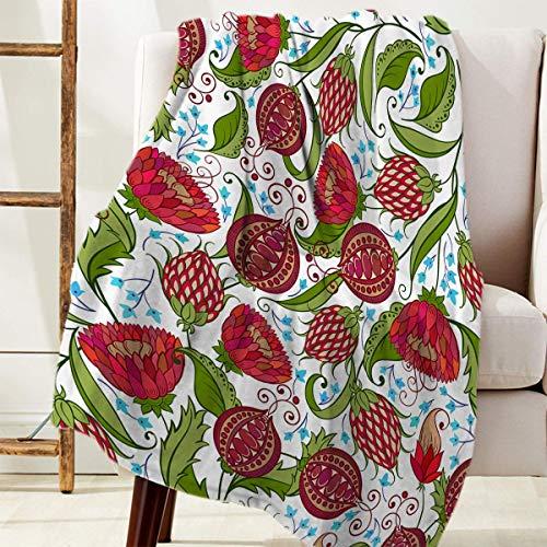 Manta Para Utilice flor de granada roja Blanket 125 X 100CM