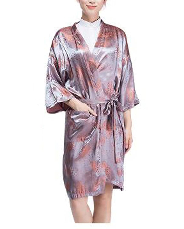 派生するデュアルラジエーターサロンクライアントのドレスアップクライアント、メープルリーフのための高級ローブ美容院のスモック
