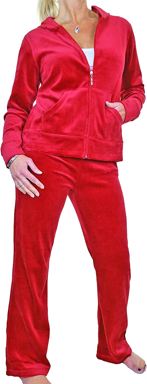 Womens Casual Velour Tracksuit Ladies Winter Warm Soft Curvy Sweatshirt Hoody and Joggers Two Piece Loungewear Set