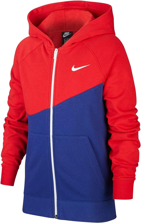 Nike Swoosh Full Zip Red Sweatshirt Child CJ6968-455