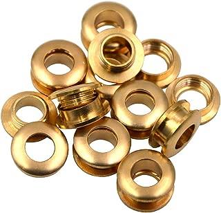 Okones Pack of 10Pcs,1-1/8''(28mm)Diameter,Solid Brass Grommet Eyelets buckle Scrapbook Stamping Leathercraft Backing Corns (Diameter 1-1/8'' 28mm)