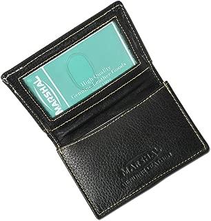 100% Leather Business Card Holder Black #96-70