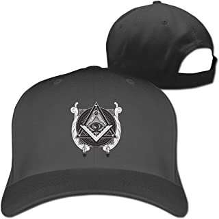 Pure Color Peaked Cap Triangle Pyramid Eye Dad Baseball Hats Adjustable Unisex Black