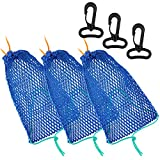 3 Pieces Crab Trap Bait Bags Outdoor Sports Style with 3 Pieces Rubber...