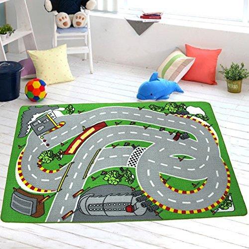 GRENSS Grüne Kinder Teppich Teppiche Stadt Leben Spielen Lernen die Kinder Teppich Teppich (39,4